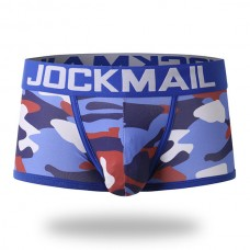 JOCKMAIL Mens Sexy Camo Printing Low Rise Breathable Cotton Soft Boxers