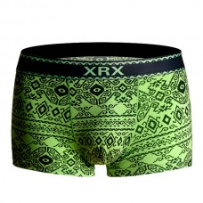 Bamboo Fiber Breathable National Printing Soft Comfy Traceless Boxer Briefs for Men