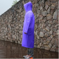 Long Sleeve Cuff Windproof Upgrade Version of One-piece Environmental Protection Transparent Raincoat Average Size (Purple)